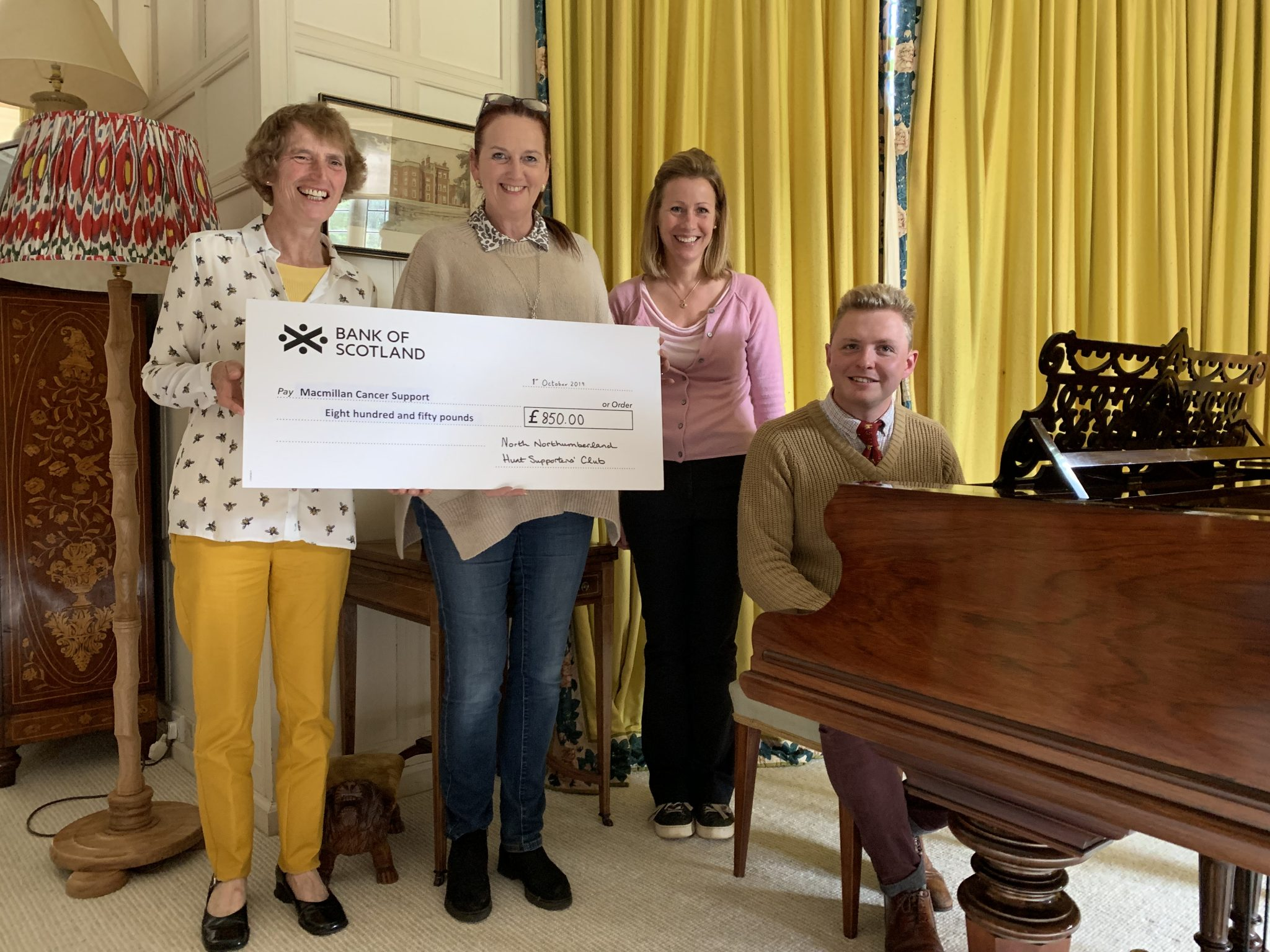 Piano Men Evening Big Cheque